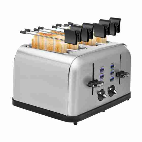 Tostapane elettrico in acciaio inox 1.7 Kw 30 x 27.6 x 18 h cm