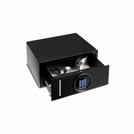 Cassaforte a mobile con serratura elettronica digitale motorizzata con cassetto estraibile.