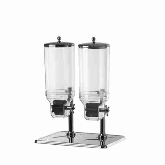 Dispenser doppio per cereali 15 lt 490 x 400 x 350 h mm