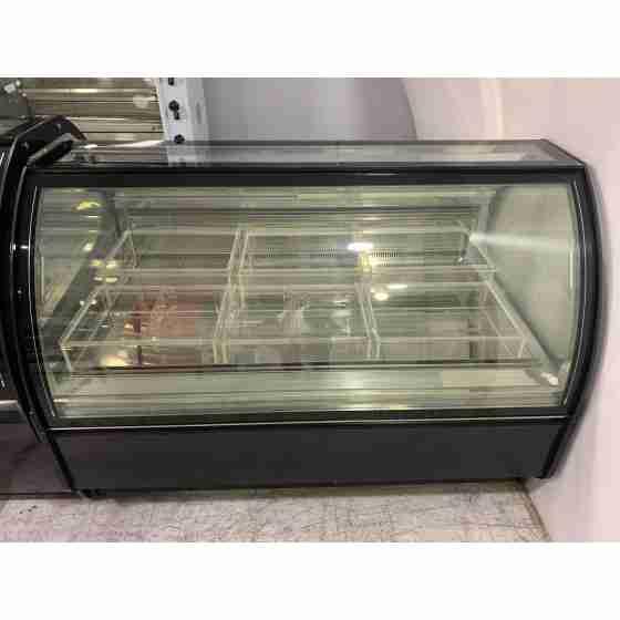 Banco gelateria professionale 18 gusti con vetri panoramici vaschette in plexiglas trasparente -usato in dimostrazione -