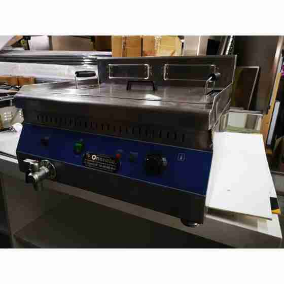 Friggitrice Elettrica professionale in acciaio inox per Pub Bar Ristoranti da banco 30 litri - 380 Volt - Usato