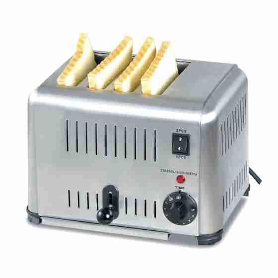 Toaster 4 fette in acciaio inox 220 V / 2 kw