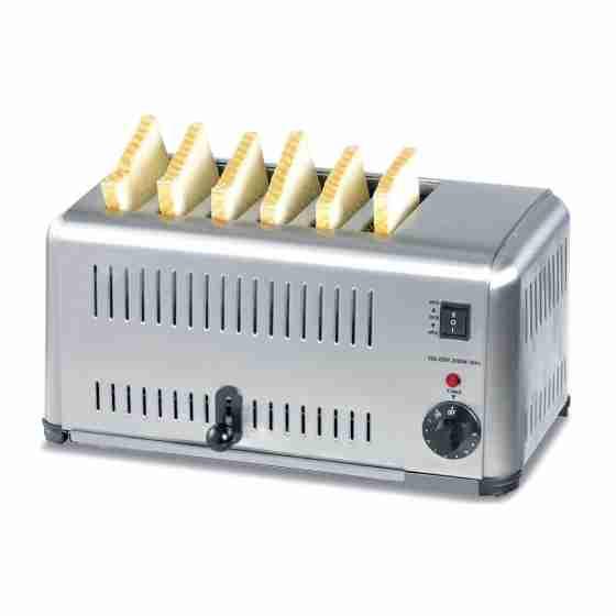 Toaster 6 fette in acciaio inox 220 V / 3 kw