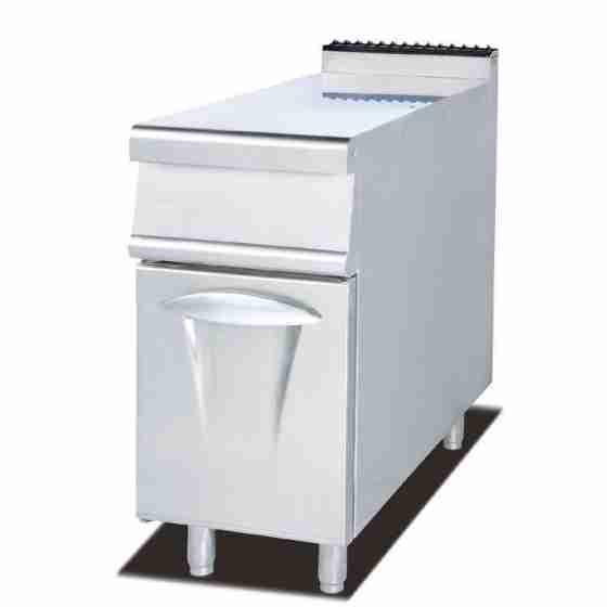 Piano inox mobile neutro con anta sportello per cucine 800x900x940 mm 80x90 cm