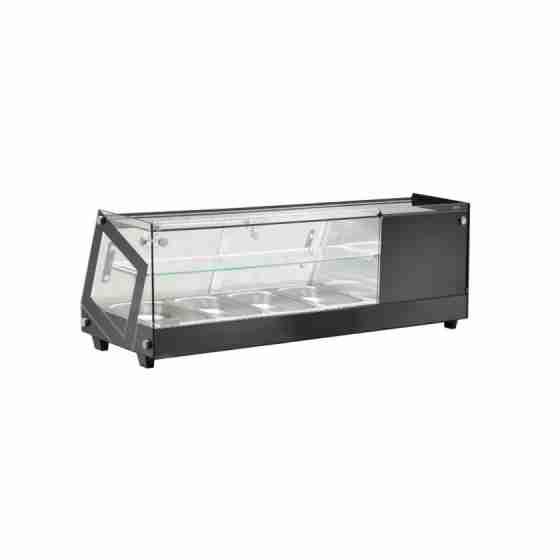 Vetrina refrigerata da banco per antipasti e tapas 4 x GN 1/3 h 4,0 cm 0 +12 °C 1135x395x375h mm