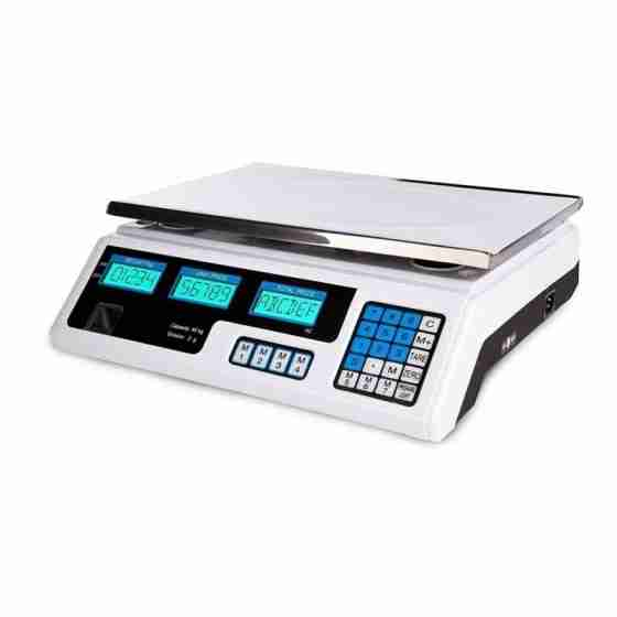 Bilancia elettronica da banco in ABS con piatto max 40 Kg 1 operatore