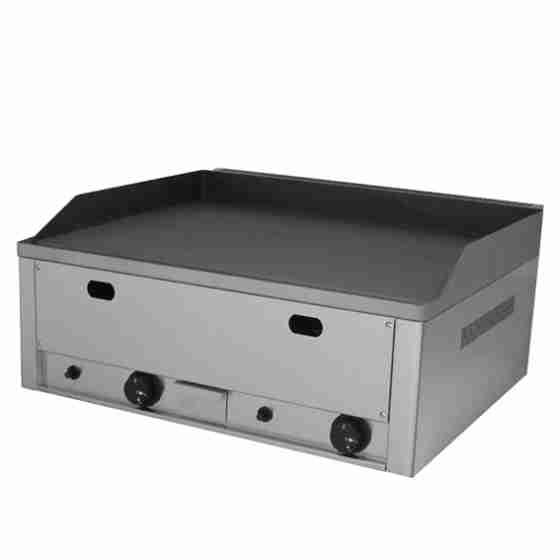 Piastra Fry top acciaio inox professionale gas piano Liscio