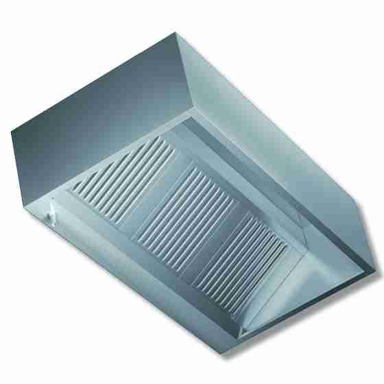 Cappa Cubica a parete senza motore profondità 110 cm 140x110x45h cm