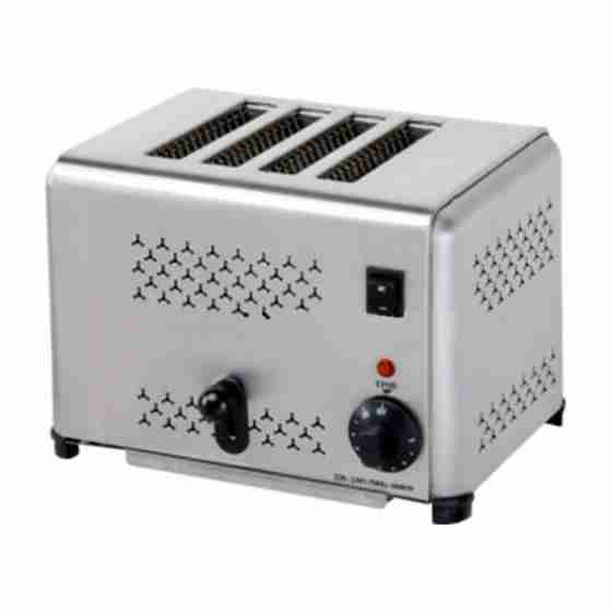 Toaster 4 fette in acciaio inox 220 V / 1.8 kw
