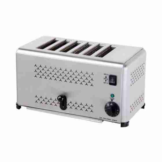 Toaster 6 fette in acciaio inox 220 V / 2.5 kw