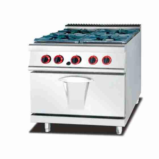 Cucina a Gas 4 fuochi con forno a Gas S/70 80x70 cm