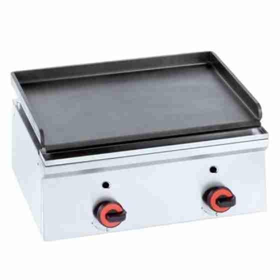 Piastra Fry top acciaio inox professionale gas 60 cm