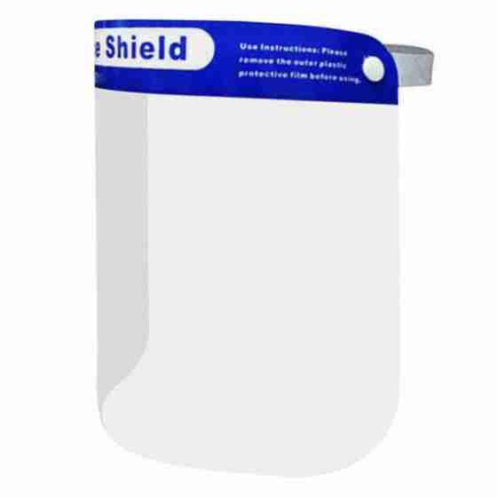 Visiera protettiva medica in policarbonato, protezione per occhi e bocca, anticontagio 330x220mm