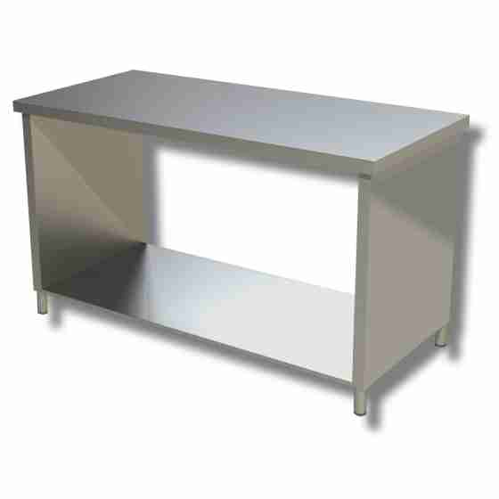 Tavolo Acciaio Inox.Tavoli Con Fianchi Su Ripiano Profondita 60 Cm Tavolo Acciaio Inox Su Fianchi 60x60 Cm