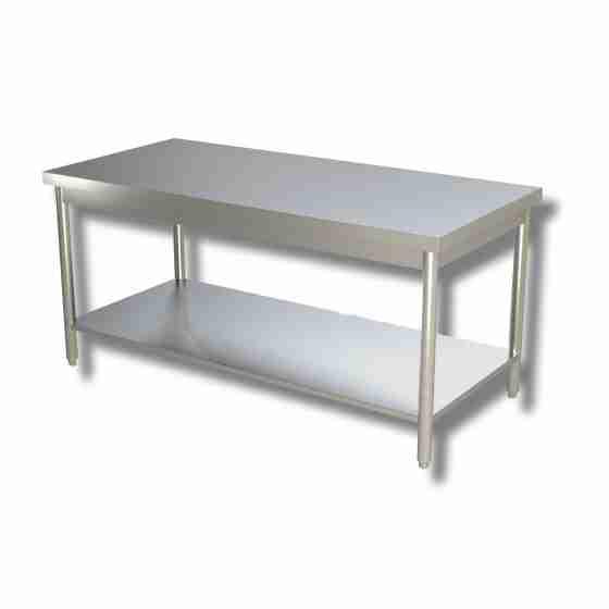 Tavolo su gambe con ripiano 140x70x85h cm