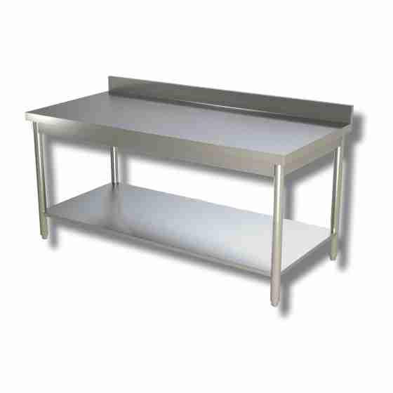 Tavolo su gambe con ripiano e alzatina 140x60x85h cm