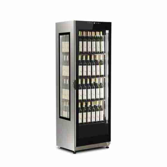 Vetrina verticale vino ventilata capacità 376 lt con illuminazione a LED +5°/+15° C capacità bottiglie 84