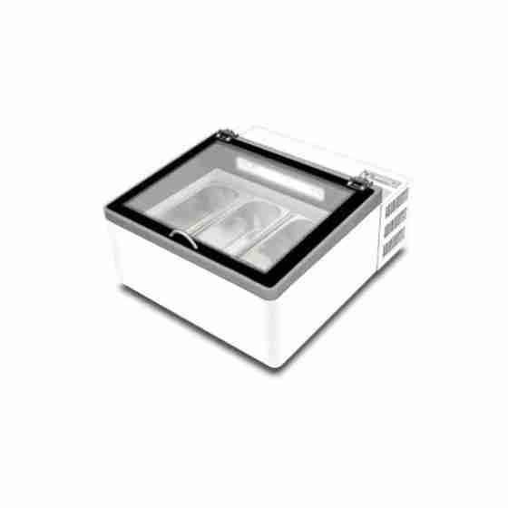 Espositore gelateria statico da banco 50 lt -18°/-25° C