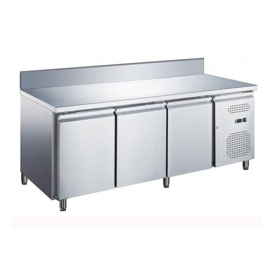 Tavolo frigo refrigerato 3 porte in acciaio inox con ...