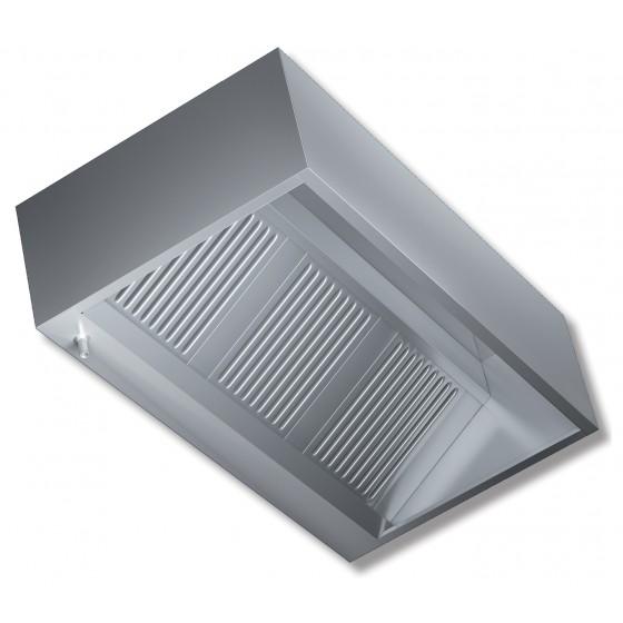 Cappa a parete senza motore profondità 1100 mm 1400x1100x450h mm