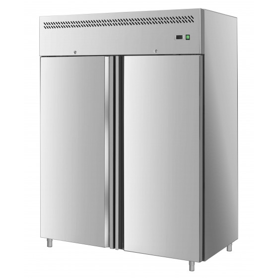 Armadio frigo refrigerato in acciaio inox 2 ante 1400 lt ...