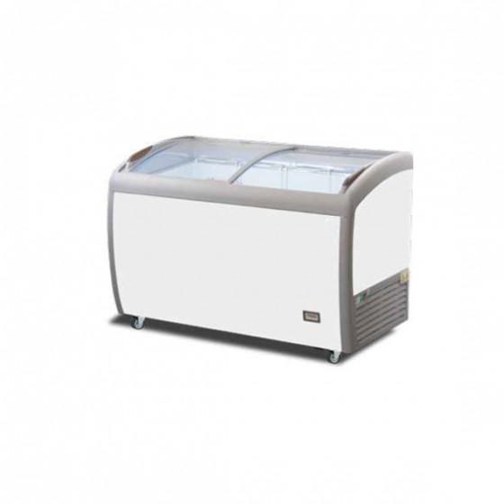 Espositore gelateria coperchi scorrevoli vetrati curvi  statico 330 lt -18°/-25° C