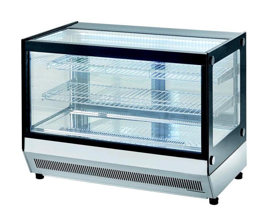 Vetrina refrigerata da banco con vetri dritti 700x560x680 for Arredamenti low cost