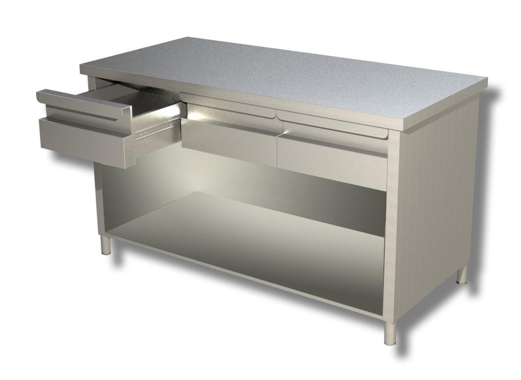 Tavoli con fianchi schienale e cassetti profondit 60 cm for Arredamenti low cost