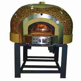 Forno a Gas Rotante 8 Pizze con decorazione a Mosaico