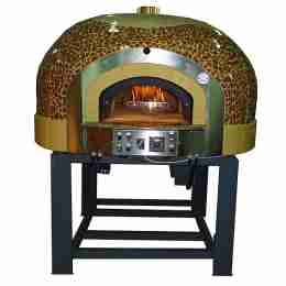 Forno a Gas Rotante 11 Pizze con decorazione a Mosaico