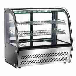 Vetrina refrigerata da banco 4 lati vetro illuminazione led dimensioni 705x580x670h mm capacità 120 lt