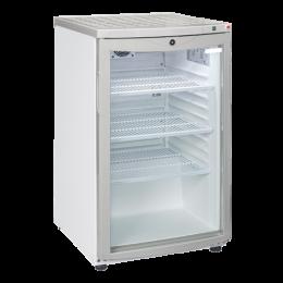 Vetrina bibite verticale refrigerazione roll-bond con ventola di assistenza capacità 85 lt +4 +10° C