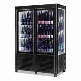 Cantina vini ventilata 2 porte capacità 144 bottiglie esposizione su tre lati