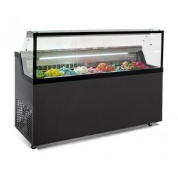 Banco gelati con vetro camera riscaldato refrigerazione statica 6 gusti 1187x677x1190h mm