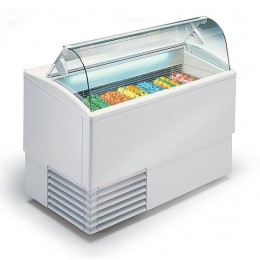Banco gelati a refrigerazione statica 6 gusti vetri curvi 1184x800x1176h mm
