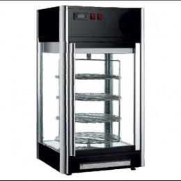 Vetrina refrigerata da banco 4 lati vetro illuminazione led dimensioni 475x475x870h mm capacità 108 lt piani girevoli