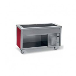 Banchi self service con vasca refrigerata su vano a giorno 1500x700x900 h mm