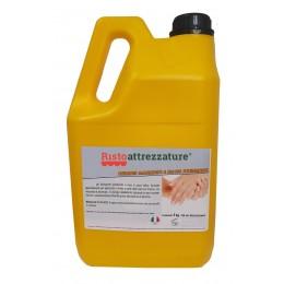 Tanica ricarica di Gel professionale 5 lt igienizzante disinfettante e sanitizzante mani per uso quotidiano, battericida, antivirus senza risciacquo