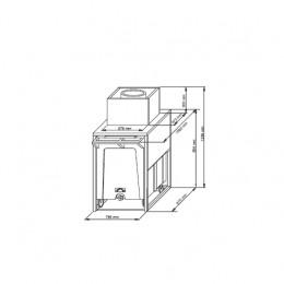 Contenitore ghiaccio capacità carrello 108 kg  capacità riserva 17 kg 795x1060x1284 mm