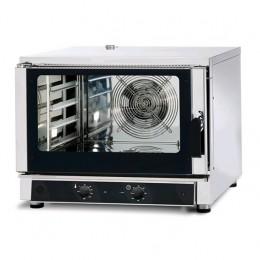 Forno elettrico 4 teglie 600x400 - GN 1/1 a convezione e con iniezione di acqua - MECCANICO