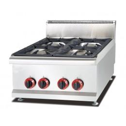 Cucina quattro 4 fuochi professionale a gas da banco appoggio 60x65x48cm