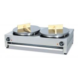 Piastra crepiera elettrica doppia 860x485x240mm
