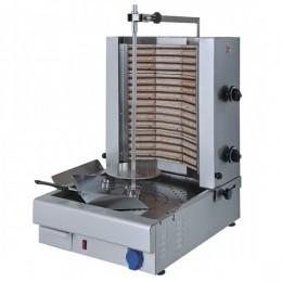 Macchina Doner Gyros Cuoci Kebab elettrica  con 2 zone di cottura 35 kg