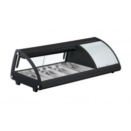 Vetrina SUSHI refrigerata illuminazione a LED Vetro frontale curvo  1131x450x330h mm 4 x GN 1/3