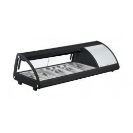 Vetrina SUSHI refrigerata illuminazione a LED Vetro frontale curvo 1307x450x330h mm 5 x GN 1/3