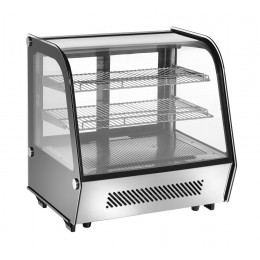 Vetrinetta refrigerata da banco controlli digitali ventilata con vetri doppi su 4 lati capacità 160 lt