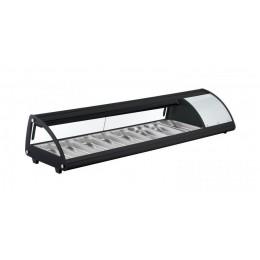 Vetrina SUSHI refrigerata illuminazione a LED Vetro frontale curvo 1754x450x330h mm 8 x GN 1/3