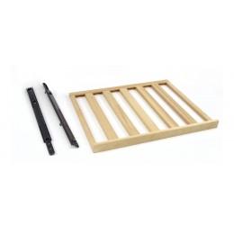 Griglia portabottiglie in legno con coppia di guide