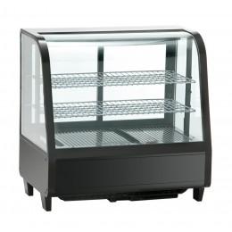 Vetrinetta refrigerata da banco ventilata con vetri doppi su 4 lati capacità 100 lt