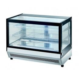 Vetrina refrigerata da banco con vetri dritti  900x560x680h mm 160 lt